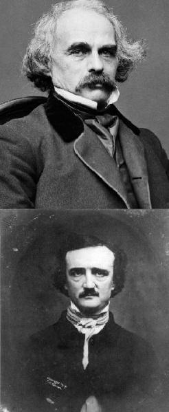 Hawthorne en haut et Poe en bas